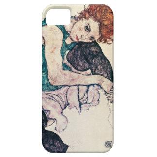 Femme assise par Schiele d'Egon Coque iPhone 5 Case-Mate