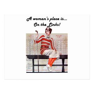 Femme aux liens cartes postales