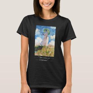 Femme avec un parasol Claude Monet T-shirt