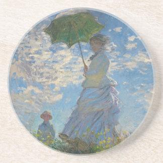 Femme avec un parasol par Claude Monet Dessous De Verres