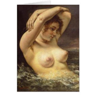 Femme dans les vagues carte