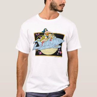 Femme de merveille avec le jet t-shirt