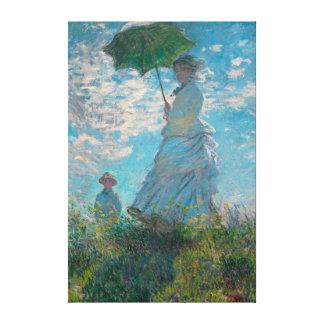 Femme de Monet avec des beaux-arts de parasol Toiles