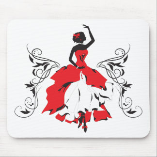 Tapis de souris silhouette femme personnalis s - Tapis de souris personnalise belgique ...