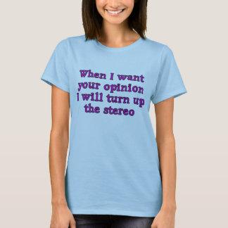 Femme et T-shirt d'opinion de dames.