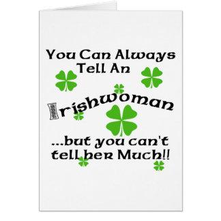 Femme irlandaise - vous pouvez toujours dire… carte de vœux