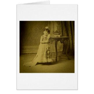Femme vintage de phénomène de cirque carte