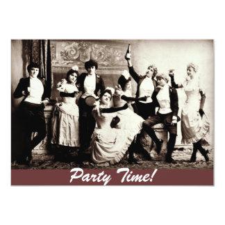Femmes d'antiquité de temps de partie célébrant carton d'invitation  11,43 cm x 15,87 cm