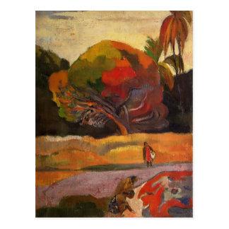 Femmes de Paul Gauguin- à la rive Carte Postale