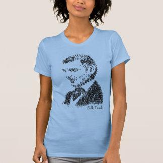 Femmes en soie de commerçant t-shirt