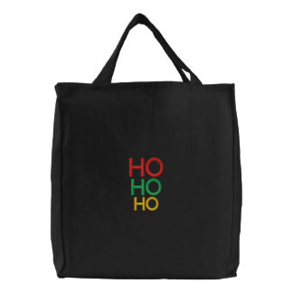 Femmes joyeuses élégantes de cadeaux de Noël Ho Ho Sac Brodé