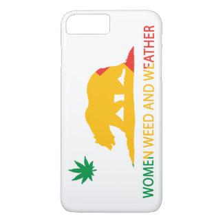 Femmes mauvaise herbe de la Californie et drapeau Coque iPhone 8 Plus/7 Plus