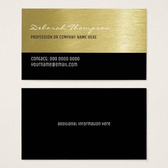 femmes professionnelles d'arrière - plan d'or de cartes de visite