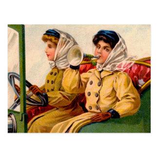 Femmes victoriennes vintages commerçant la carte