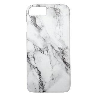 Fente noire en pierre de marbre grise coque iPhone 7