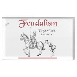 Féodalisme - c'est votre compte qui vote porte-numéro de table