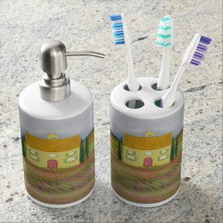 Ferme de ruelle de lavande - ensemble primitif de sets de salle de bain