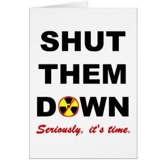 Fermé leur en bas de la carte antinucléaire de