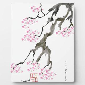 fernandes élégants Sakura avec le poisson rouge Plaque D'affichage
