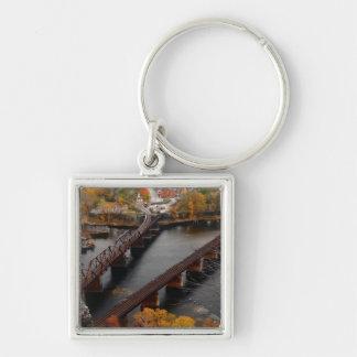 Ferry de harpistes en automne porte-clés