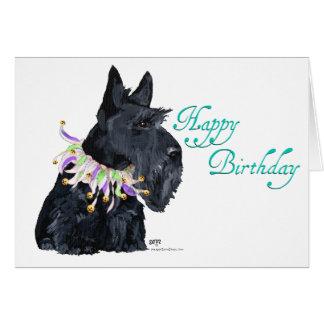 Fêtard de Terrier d'écossais Carte De Vœux