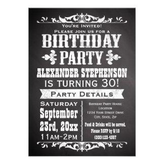 Fête d anniversaire vintage faite sur commande de cartons d'invitation