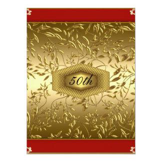 Fête d'anniversaire d'anniversaire de conception carton d'invitation  16,51 cm x 22,22 cm