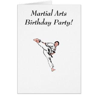 Fête d'anniversaire d'arts martiaux carte de vœux