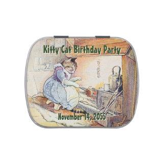 Fête d'anniversaire de chat de Kitty personnalisée Boites Jelly Belly