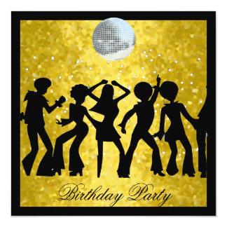 Fête d'anniversaire des années 70 de disco rétro bristols