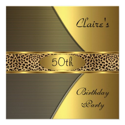 Fête d'anniversaire d'invitation noir de léopard d
