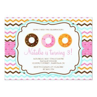 Fête d'anniversaire douce de butées toriques carton d'invitation  12,7 cm x 17,78 cm