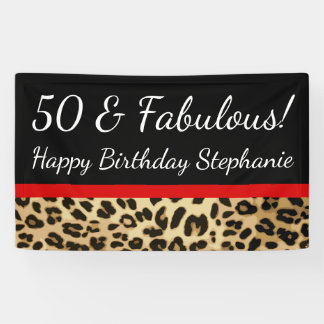 Fête d'anniversaire fabuleuse de léopard banderoles