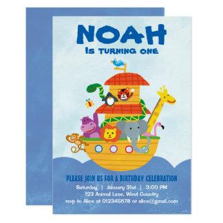 Fête d'anniversaire - invitation de l'arche de Noé
