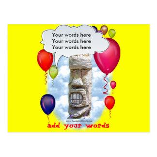 Fête d'anniversaire Tiki Carte Postale