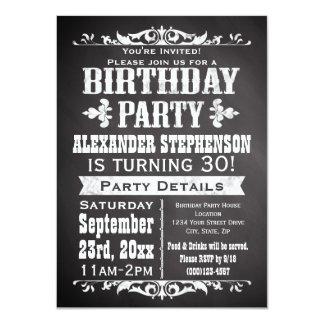 Fête d'anniversaire vintage faite sur commande de carton d'invitation  11,43 cm x 15,87 cm