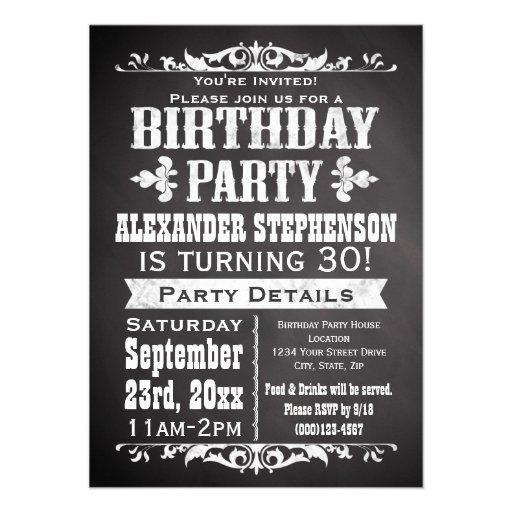 Fête d'anniversaire vintage faite sur commande de  cartons d'invitation
