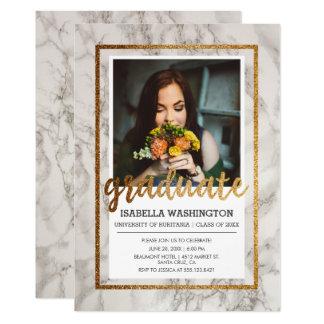 Fête de remise des diplômes de photo de la carton d'invitation  12,7 cm x 17,78 cm
