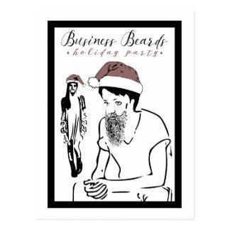 fête de vacances de barbes d'affaires cartes postales