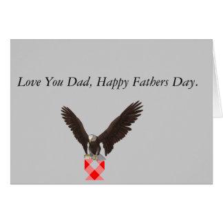 Fête des pères d'Eagle Carte De Vœux