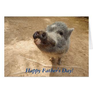 Fête des pères heureuse personnalisée, mini carte