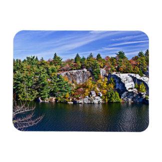 Feuillage d'automne autour de lac Minnewaska Magnet Flexible