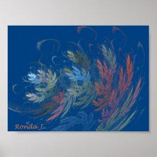 Feuille abstrait d'automne