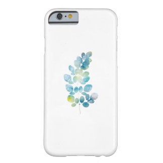 Feuille bleue de peinture d'aquarelle coque iPhone 6 barely there