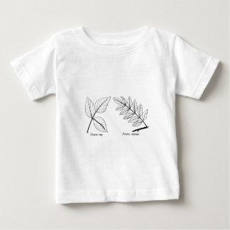 Feuille botanique vintage t-shirt pour bébé