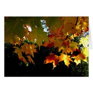 Feuille d'automne de Blank_Dangling Carte