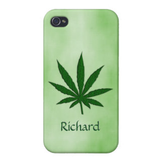 Feuille de mauvaise herbe iPhone 4 case