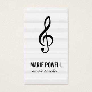 Feuille de note musicale/musique cartes de visite