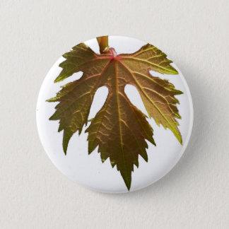 Feuille de raisin badge rond 5 cm