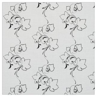 Feuille de raisin et Flourishes - tissu